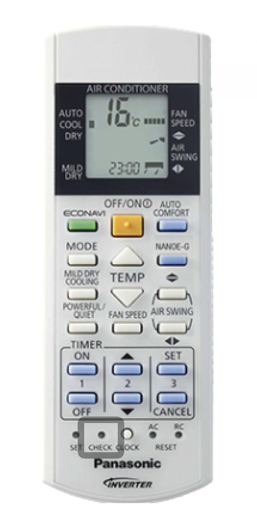 Fjärrkontroll Panasonic Värmepump